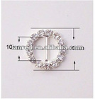 Round rhinestone buckle for wedding invitation card /ribbon Buckle/fashion accessory