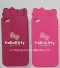 Hello Kitty Silicon Case for Iphone4 Cover Back Hard Case for iphone4 PK-S027