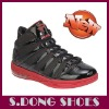 Shinny Black Mens Air Cushion Basketball Shoes