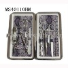 11pcs stainless steel manicure pedicure set with snakeskin leather bag