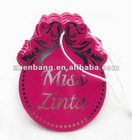 Oem Design hang tag label Factory
