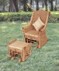 Rattan rocking chair with matching ottoman (201)