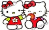 HELLO KITTY & GARDEN KIDS Adhesive Removable Wall Decor Accents Stickers Decals