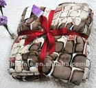 printed coral fleece blanket