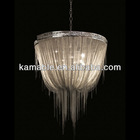 Modern Silver Chain Lighting pendant lamp.