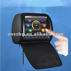 9 inch touch screen headrest car dvd media player with zipper cover and multifuntional controller