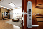 LT-8000A High security fingerprint password door lock with sliding cover protect