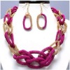 fashion jewelry chain necklace and earring sets