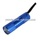 9-pieces LED Aluminum Alloy LED Flashlight