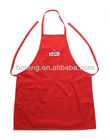 red cotton promotional kitchen apron with printed or embroidery