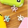 Diamond bowknot dustproof plug for phone and other cellphones