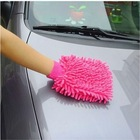 pink microfiber cleaning gloves