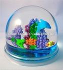 dolphins polyresin snow globes,dolphin snow globe