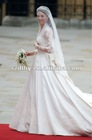 JY-131 Long sleeve Lace muslim wedding dress with veil 2013