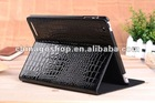 For ipad 3 leather case folding Croco dormant