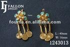 Exiquiiste 18k Flower Dangle earring 1243013