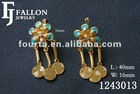 Exiquiiste 18k Flower Dangle earring 1243013
