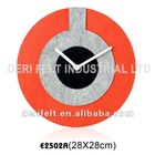 Mix-color Felt Decorative Wall Clock