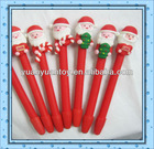 hot Promotional gifts Santa Claus Soft Pottery Feature Polymer Clay Gel Pen for kids