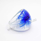 lampwork glass rings hot sell fashion rings for party