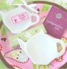 """It's Tea Time!"" Porcelain Teapot Dish Favors"