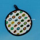Plain Cloth Dot Printed Round Pot Holders