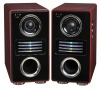 2.0 audio speaker professional active speaker wooden box karaoke speaker home theater system with usb,sd,fm,amplifier(HYL-03)