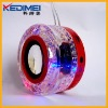 Kedimei usb portable mini speaker with round crystal material(MS48)