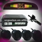 Car Reverse Rear Radar System 4 Black Wire Parking Sensor With LED Display BiBi Buzzer Kit