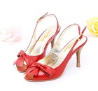 princess red leather lady shoes