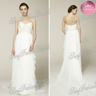 New Arrival Sweetheart A-line Floor length ruffle waist chiffon elie saab dresses for sale wedding dresses 2013