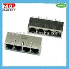 10/100Base-TX Multi Port (1x4) Tab-Down RJ45 Connector W/Transformer W/LED