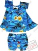 100% cotton or rayon printed hawaiian flowers girls short skirts