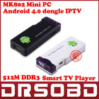 Android 4.0 Mini PC IPTV Google Internet TV Smart Android Box DDR3 512MB RAM 4GB ROM Allwinner A10 MK802