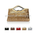 2013 new female BaoZhu embroidery evening bag hand hand bag female a matron of honour bag red bride bag chain oblique cross