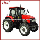 100hp 4wd farm tractor 1004 with front loader and backhoe
