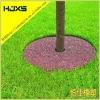 Rubber mulch tree ring mats
