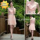 Pink one shoulder rockabilly dress short cocktail dresses