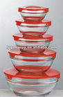 clear glass bowl 5 set/pieces