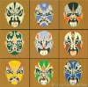 traditional chinese mask art paintings