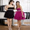 Strapless Beading Wasitband Ruffled Layered Skirt Wholesale Cocktail Dress