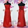 fashion satin ruffle evening gown ES3164