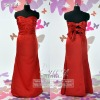 fashion satin ruffle evening gown ES3164