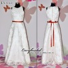 2011 Hot Sale Embroidery Lace Ribbons Flower Girl Dress FS0013