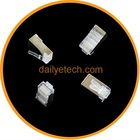 1000 x Metal Shield RJ45 RJ-45 8P8C Network CAT CAT5E Modular Plug Connector