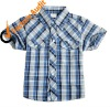 casual shirt for boys, fashion gingham shirt