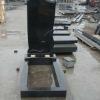 Russia style shanxi black granite tombstone design