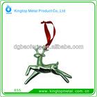 3d Metal deerlet Christmas pendant