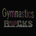 rhinestone transfer iron on Gymnastic Rocks motif
