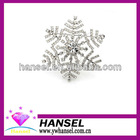 Snowflake metal brooches and pins